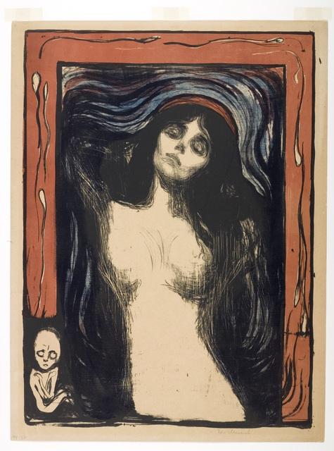 Edvard Munch, 'Madonna ', 1895/1902, Munch Museum