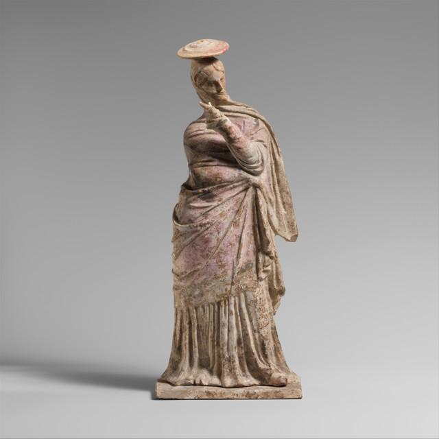 Unknown Greek, 'Terracotta statuette of a woman', 2nd century B.C., The Metropolitan Museum of Art