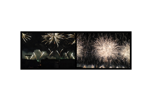 Eve Sonneman, 'Fireworks, July 4, New York', 2018, Photography, Digital photograph on glossy Japanese paper, ed. 5, Nohra Haime Gallery