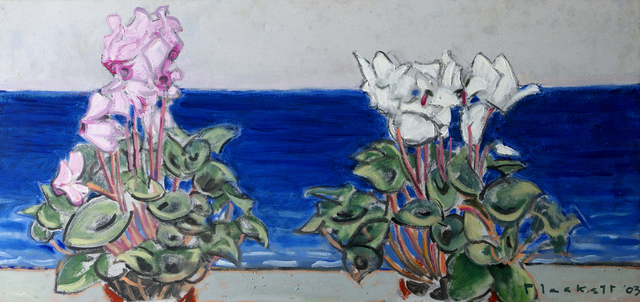 , ' Two Cyclamen & Sea,' 2003, Winchester Galleries