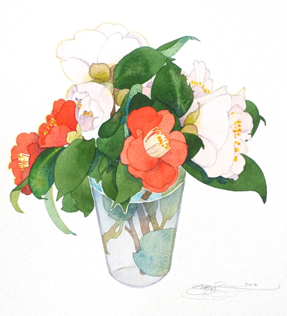 , 'Camellias II,' , The Bonfoey Gallery