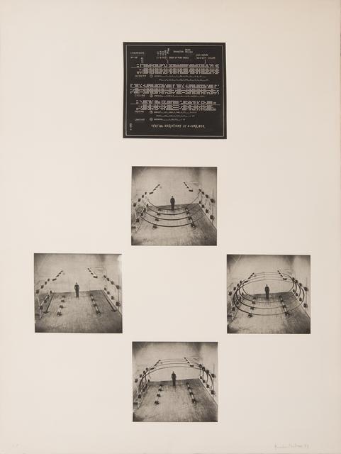 , 'Raumvariation einer Röhre / Spatial Variation of a Corridor,' 1973, Georg Kargl Fine Arts