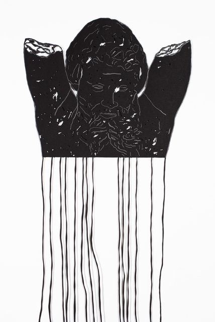 Noa Yekutieli, 'Sudden Connections', 2019, Sculpture, Manual paper-cutting, graphite, found material, Track 16 Gallery