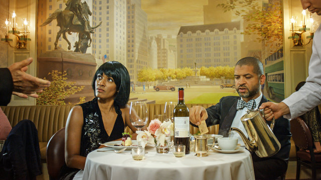 , 'Scenes from Western Culture, Dinner (Jason Moran and Alicia Hall Moran),' 2015, Luhring Augustine