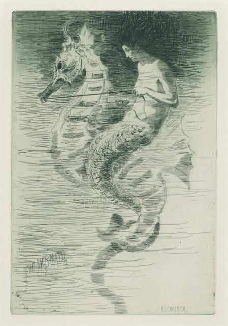 Frederick Stuart Church, 'The Mermaid', ca. 1881, Print, Etching, National Gallery of Art, Washington, D.C.