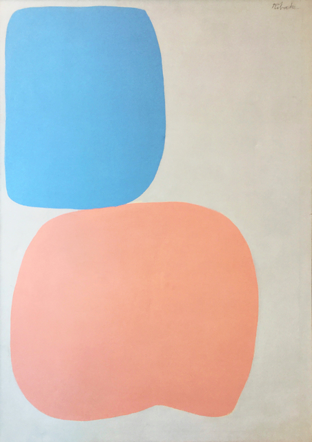 , 'Pink and Blue Abstract ,' 1960-1969, Modern West Fine Art