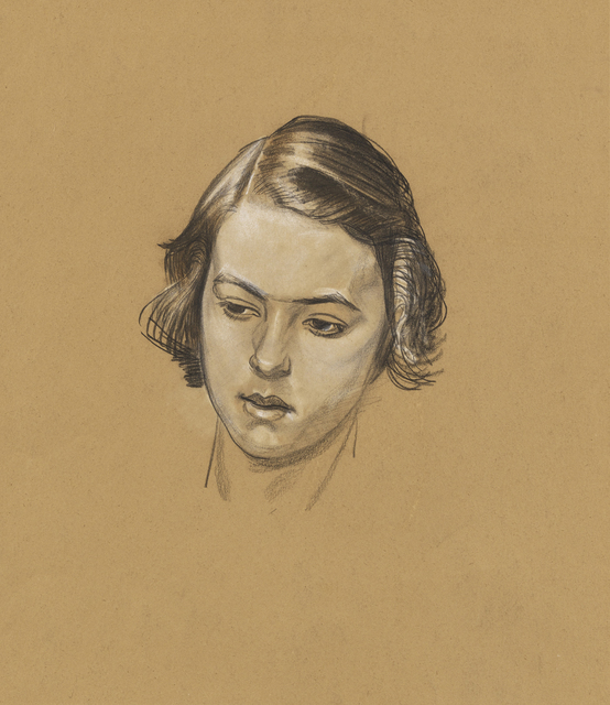, 'Head Study, Girl,' 1925-1930, The Scottish Gallery