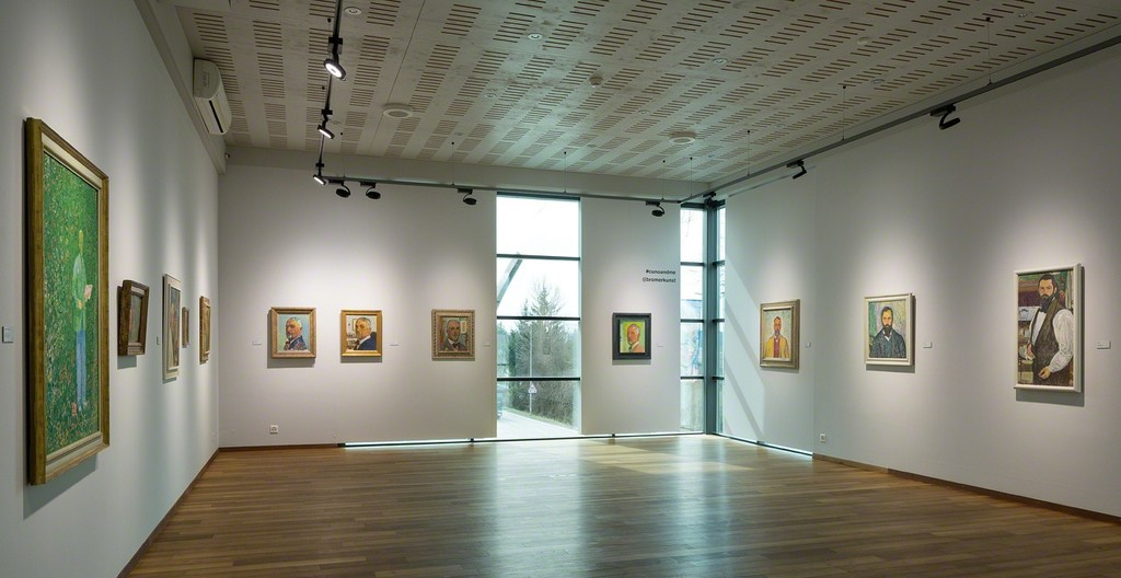 Exhibition space on the subject of the self-portrait (photo: Markus Beyeler)
