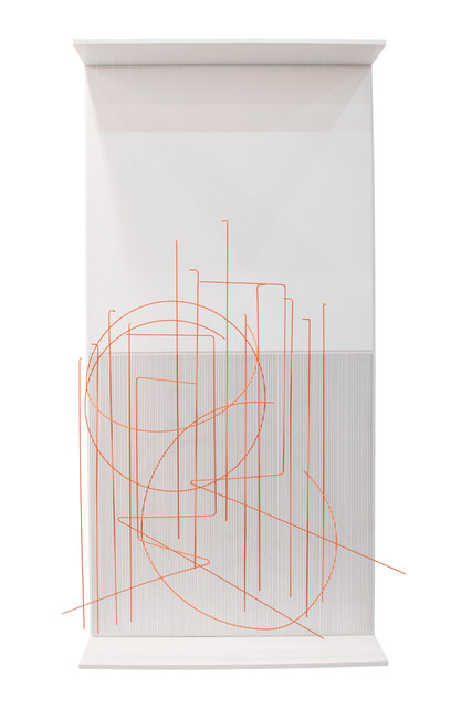 , 'Escriture Verticale Orange,' 1989, Galería RGR
