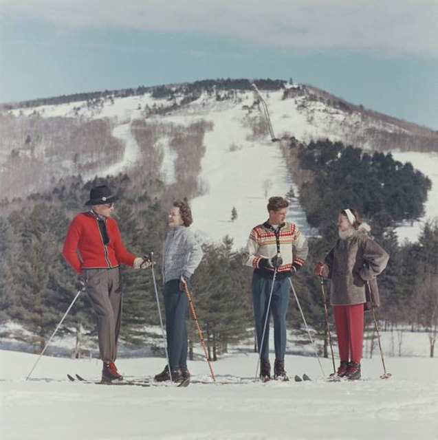Slim Aarons, 'Skiing In New Hampshire', ca. 1955, IFAC Arts