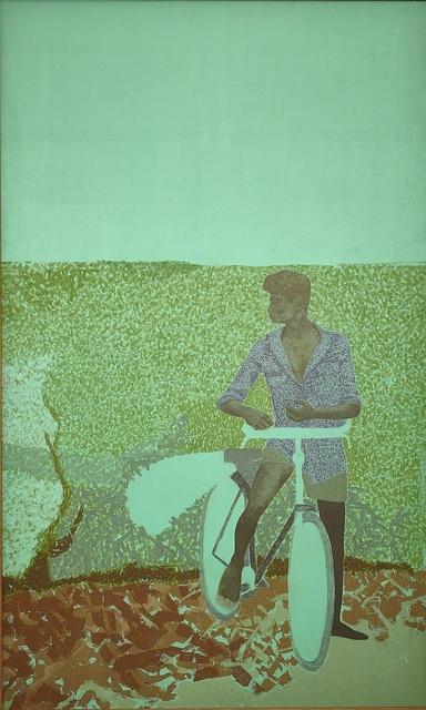 , 'Bicyclist In The Field,' 1979, AkaraArt