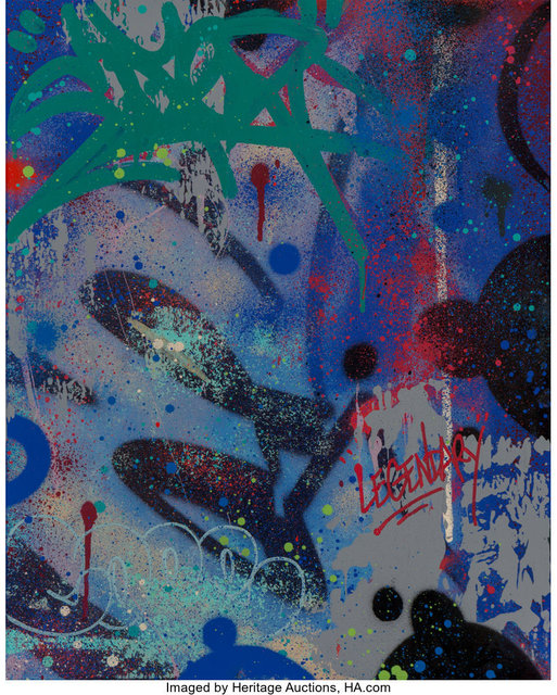Cope2, 'E for Electric!', 2013, Painting, Acrylic and spray paint on canvas, Heritage Auctions