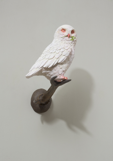 Jang Jongwan, ' An Owl Holding a Four-Leaf Clover', 2017, Arario Gallery