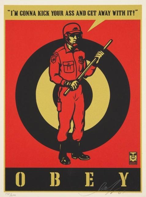 Shepard Fairey, 'Riot Cop', 2009, Samhart Gallery