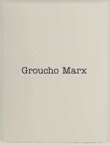Simon Patterson, 'Groucho Marx', 2018, SCHOOL