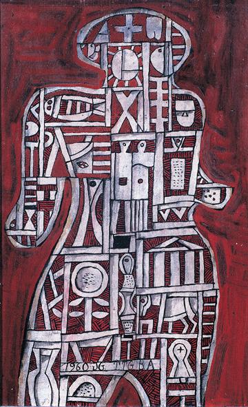 , 'Hombre construido en rojo,' 1960, Museo Gurvich