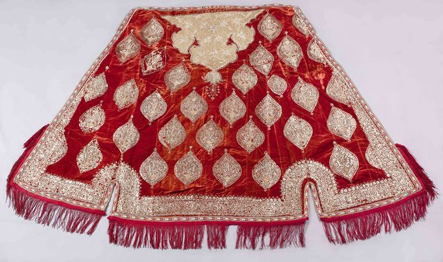 , 'Horse Cape with Embroidered and Dyed Floral Motifs,' Late 19th or early 20th century, Newark Museum