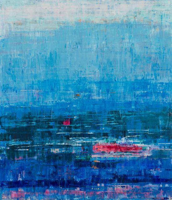 , 'Deep Blue & Raspberry Red,' 2019, Patricia Rovzar Gallery