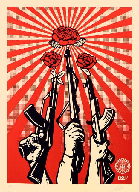 Shepard Fairey, 'Guns and Roses - Large Format', 2019, Blackline Gallery