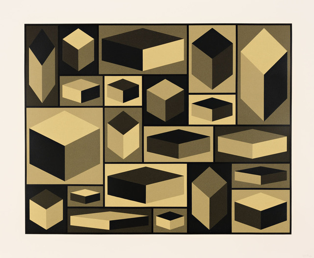 , 'Distorted Cubes (A),' 2001, Pace Prints