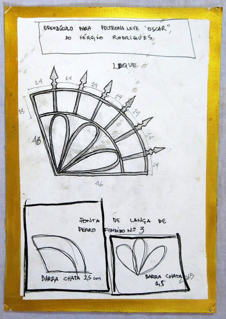 , 'Projeto para ofendículo Leque para poltrona leve Oscar do Sérgio Rodrigues [Project to Fan barrier to Oscar leve armchair by Sérgio Rodrigues],' 2015, Portas Vilaseca Galeria