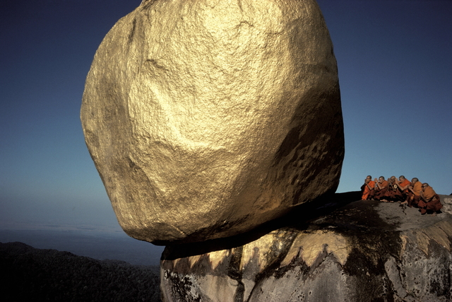 , 'The Golden Rock at the Buddhist holy place, Kyaiktiyo, MIYANMAR,' 1978, Hakgojae Gallery