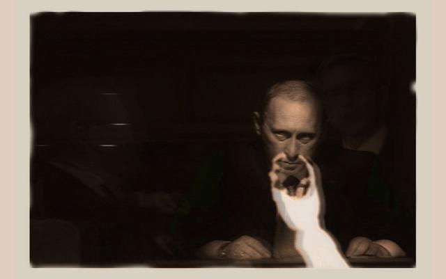 , 'Ectoplasm Phenomena of materialisation with Vladimir Putin, Paris May 2nd 1913,' 2013, Galerie Laurence Bernard