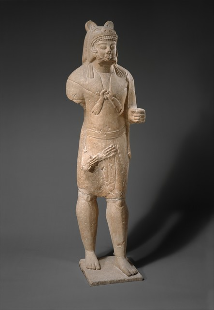 Unknown Cypriot, 'Limestone Herakles', ca. 530–520 B.C., The Metropolitan Museum of Art
