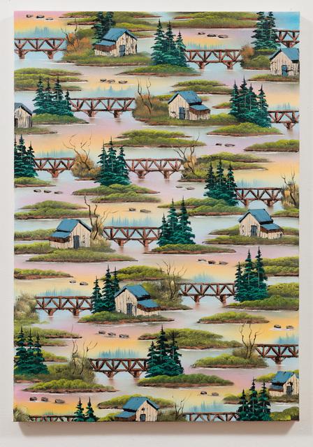 , 'Chasing Bridges (Zap),' 2018, Anat Ebgi