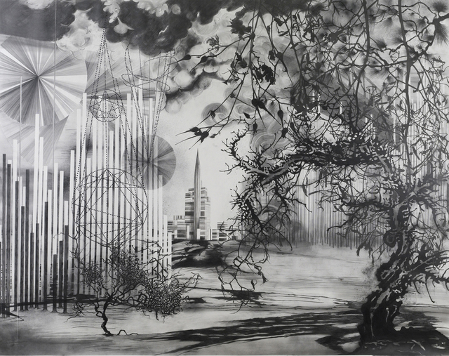 Katja Davar, 'The Fabric of Life', 2008, Drawing, Collage or other Work on Paper, Pencil, graphite power and ink on paper, Kadel Willborn