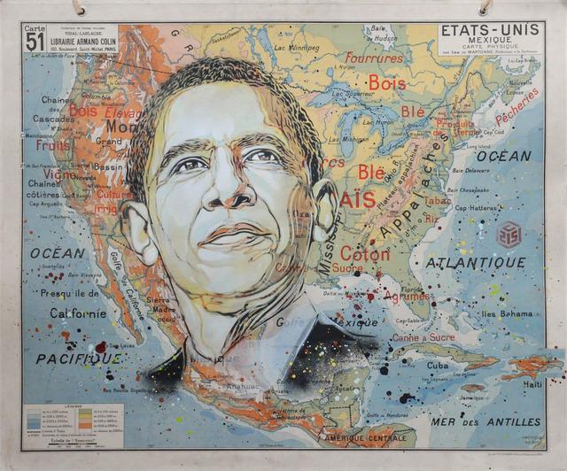 C215, 'Obama', 2019, Mazel Galerie