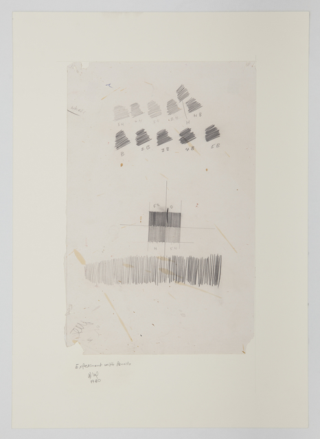 , 'Experiment with Pencils,' 1980, Gallery Isabelle van den Eynde