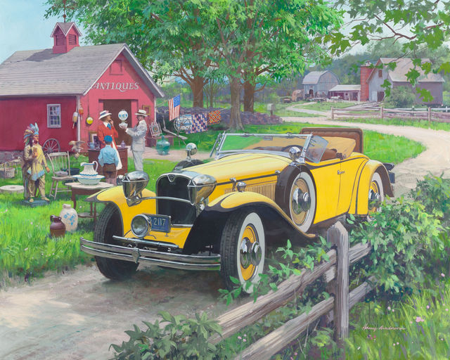 Harry Anderson, 'Barn Antiques, 1930 Ruxton, Great Moments in Early American Motoring', The Illustrated Gallery