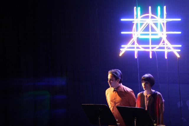 """Robert Ashley and Alex Waterman, 'Performance of El Parque, """"Vidas Perfectas"""". Pictured: Abraham Gomez-Delgado and Elisa Santiago,' , Whitney Biennial 2014"""