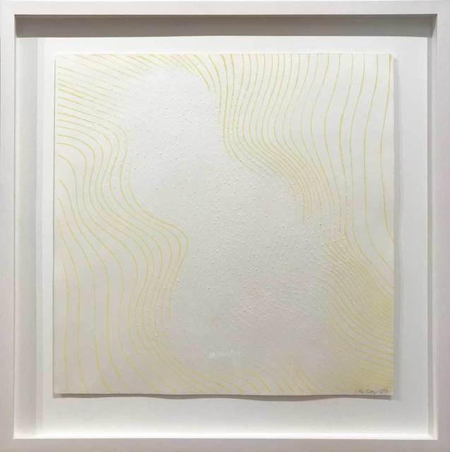 Günther Uecker, 'Welle gelb', 1965, Print, Embossing and lithograph on vellum, Galerie Kellermann