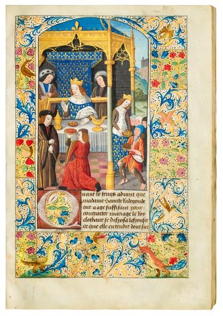 ", 'Jean Bouchet: ""Life of St. Radegund"",' 1496-1498, Dr. Jörn Günther Rare Books"