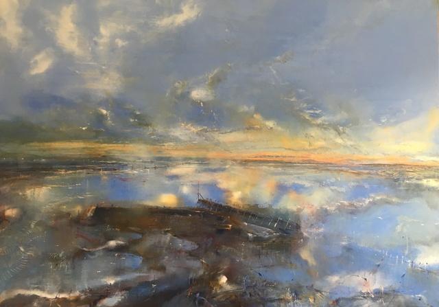 , 'The Breakwater at Sunrise,' 2017, Thackeray Gallery