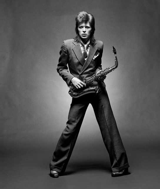 , 'Bowie, Sax BW Full Length, London,' 1973, TASCHEN