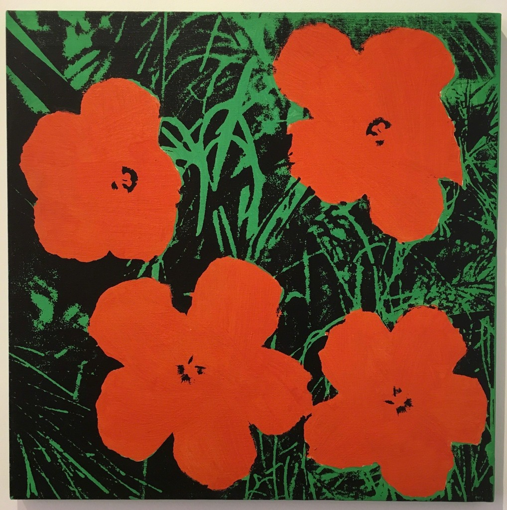 Sturtevant Warhol Flowers, 1965, synthetic polymer paint & silkscreen ink on canvas.