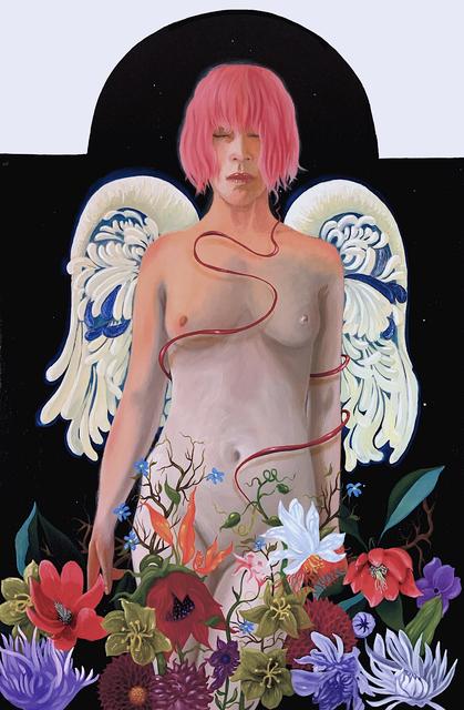Jon Christopher Gernon, 'Asteria', 2021, Painting, Egg Tempera & Oil on panel, 33 Contemporary