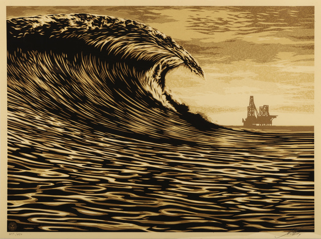 Shepard Fairey (OBEY), 'This New Waves A Little Slick For My Taste', 2014, Chiswick Auctions
