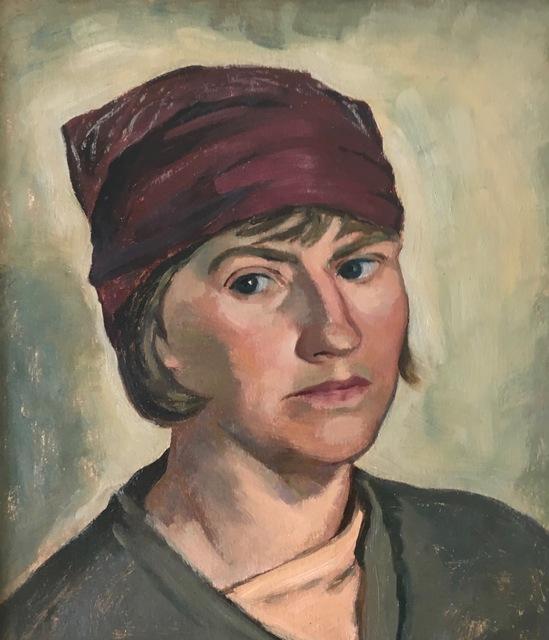 , 'Self-Portrait with Red Hat,' 1920-1940, Bakker Gallery