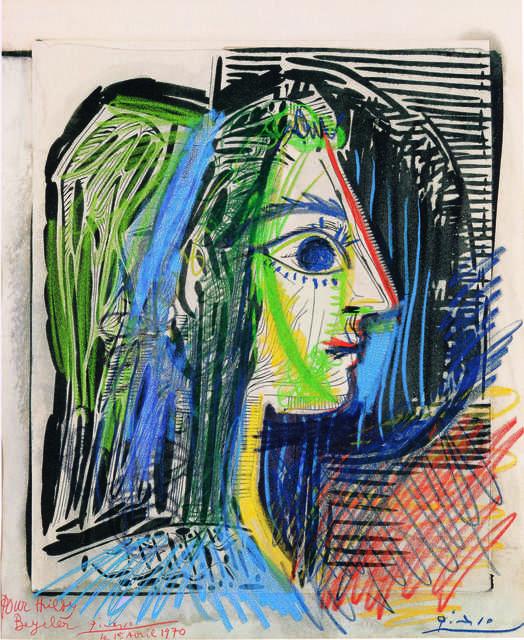 Pablo Picasso, 'Profil de femme (Jacqueline) (Profile of Woman, Jacqueline),' 1969, Fondation Beyeler