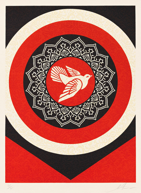 Shepard Fairey, 'Dove Target Red', 2012, Pace Prints