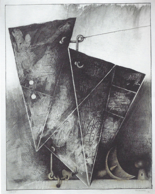 Marcelo Bonevardi, 'Kite', 1974, Drawing, Collage or other Work on Paper, Watercolor and charcoal on paper, Leon Tovar Gallery
