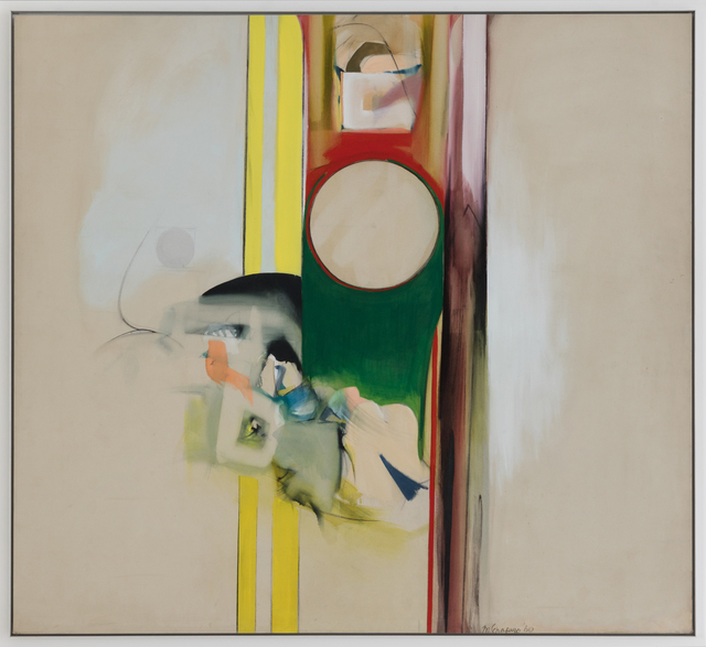 Miriam Schapiro, 'The Law', 1961, Painting, Oil on canvas, Eric Firestone Gallery
