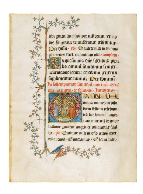 , 'Missale for the Collegiate Church of St. Barnard,' 1380-1390, Dr. Jörn Günther Rare Books