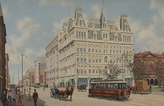 Thomas Colletta, 'Main Street, Buffalo, New York, 1905', 1905, The Illustrated Gallery