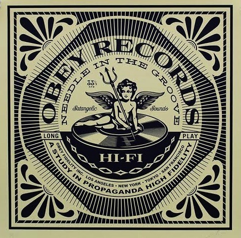 Shepard Fairey (OBEY), 'Satangelic Sounds', 2014, Vertu Fine Art