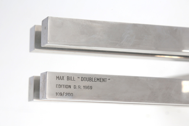 Max Bill, ''Doublement'', 1969, Design/Decorative Art, Chrome plated brass sculpture from edition D.R., Chiswick Auctions